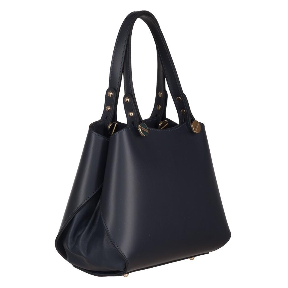 646a484c17493 Vera Pelle - Włoska elegancka torebka mały kuferek matowa skóra ...