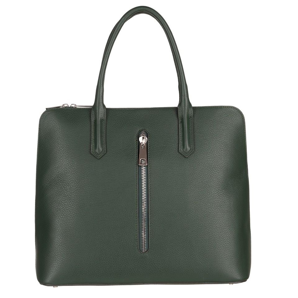 5251f6fc18a01b Włoska elegancka duża aktówka A4 skóra dolaro zielona (4781 ...