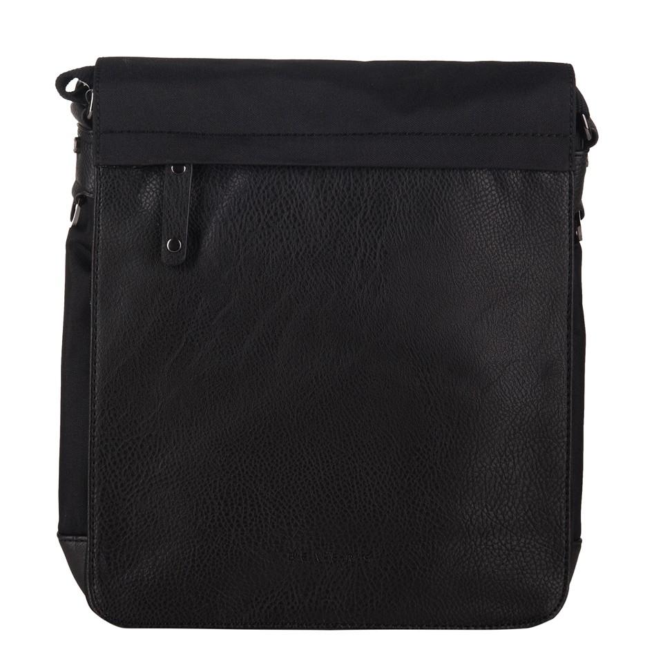 c7c797a876a56 Bever s - Męska duża torba listonoszka na ramię czarna A4 (114-6)