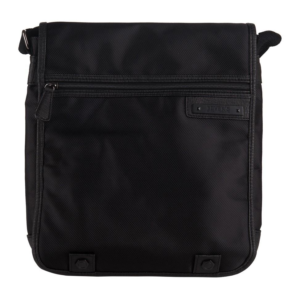 82d93eec229c0 Bever s - Męska duża torba listonoszka na ramię czarna A4 (354-5)