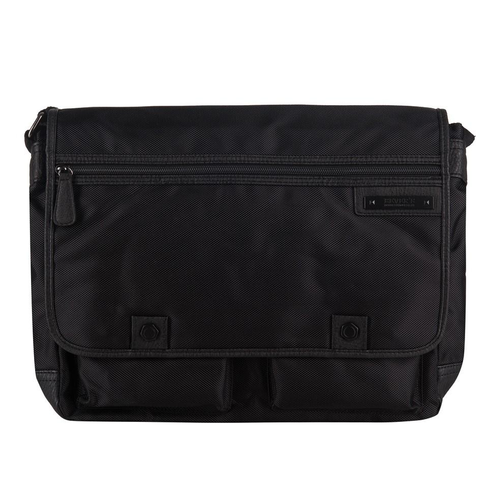 9884e10e2a7c7 Bever s - Męska duża torba na ramię czarna A4 (354-2)