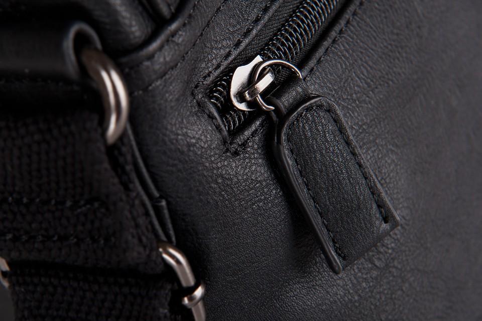 4bfcfb676e36c S.Delli - Męska mała torba listonoszka na ramię czarna A4 (SD060-3 ...