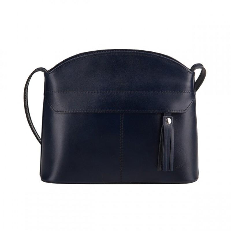 64fea6b91e4ff Vera Pelle - Włoska skórzana torebka listonoszka z kieszonką i ...
