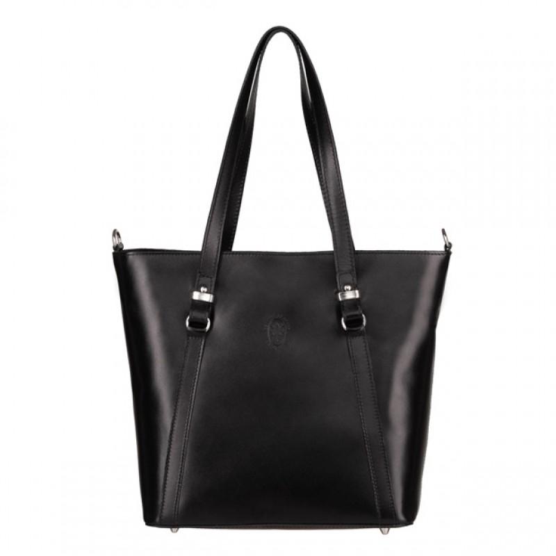 dcd2598c3537f Włoska klasyczna torebka skórzana czarna (4946) - Klasyczne ...