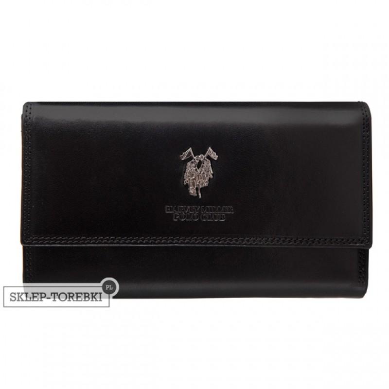 0135e34885ac6 Harvey Miller - Duży skórzany portfel damski czarny (3820-230)