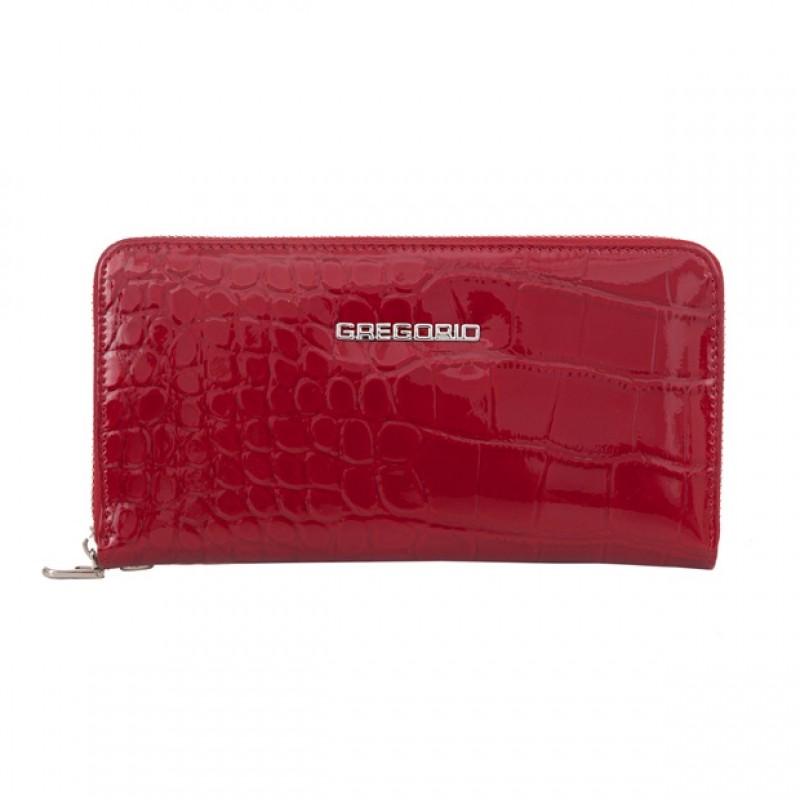 c34d421e28ef0 Gregorio - duży damski skórzany portfel lakierowany krokodyl ...