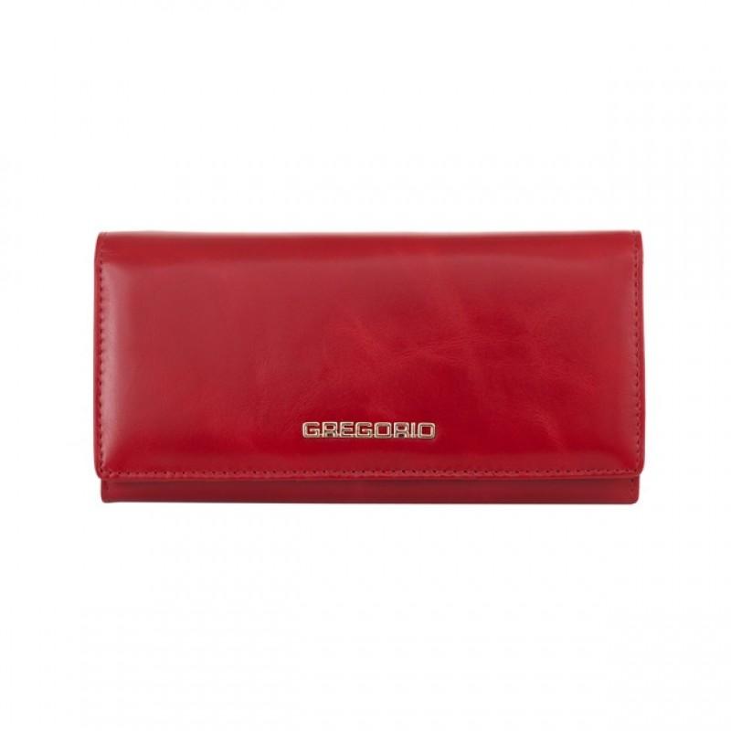 70da25003e921 Gregorio - Skórzany duży damski portfel czerwony (N100-RED)