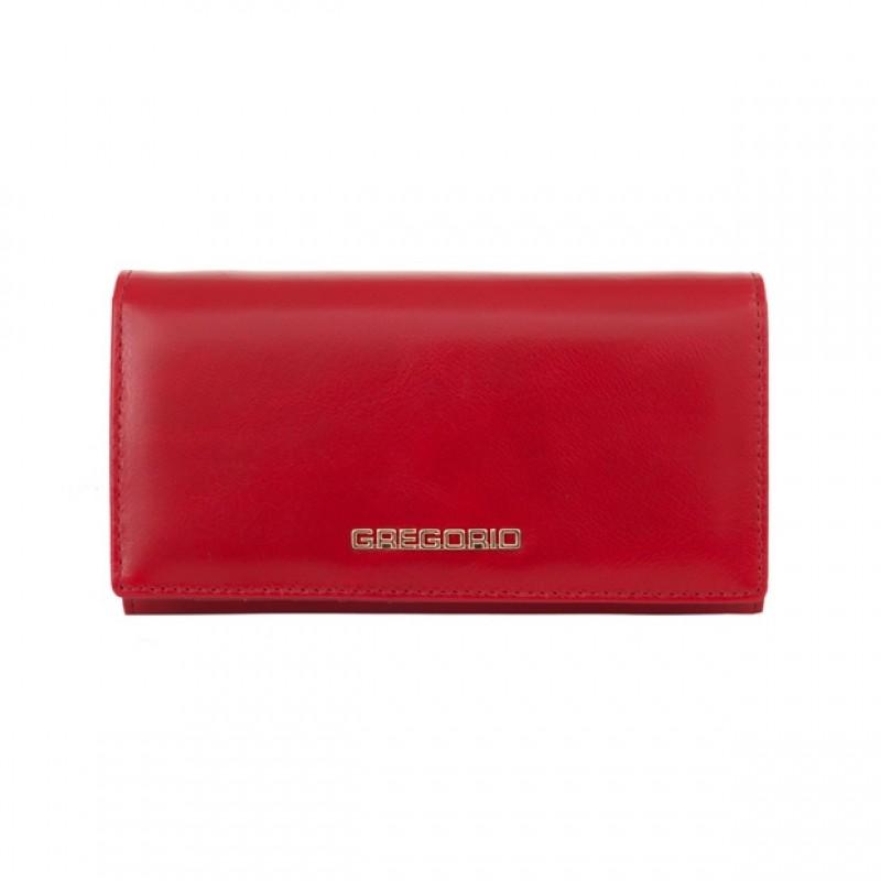 930a08634bc0c Gregorio - Skórzany duży damski portfel czerwony (N114-RED ...