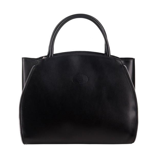 b10ea57682ca2b Vera Pelle - Włoska elegancka torebka skórzana A4 czarna (1268)