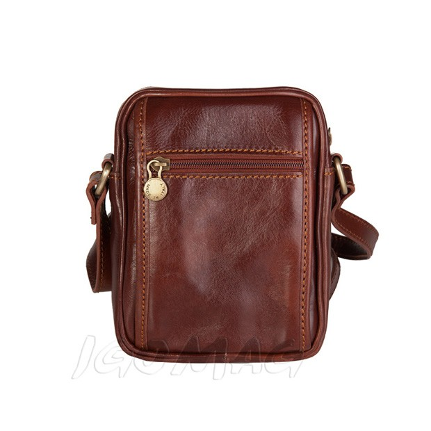 3b15f5d973489 Marco - Włoska mała skórzana torba   saszetka na ramię brązowa (T368)