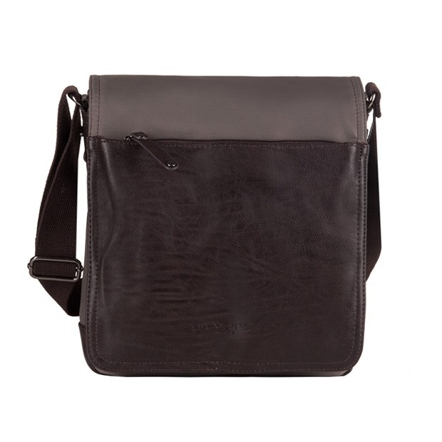 8a962a3c86f93 Bever s - męska torba listonoszka na ramię brązowa (819-7)