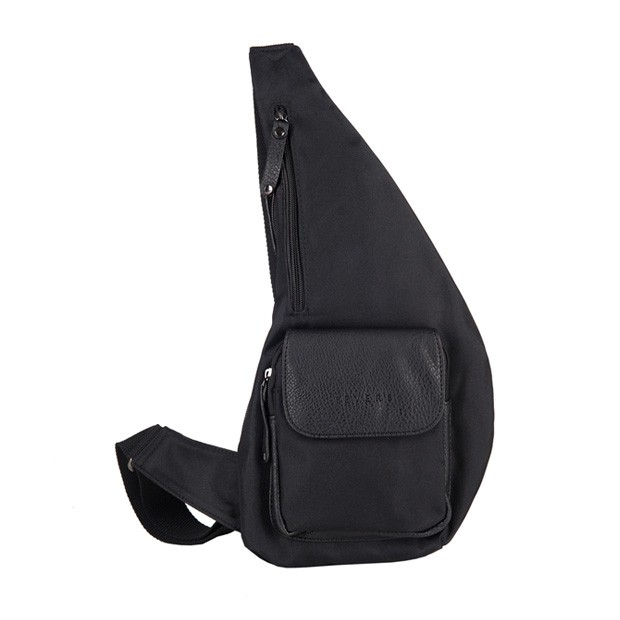 e7ec1eda56764 Bever s - Męska torba plecak przez ramię czarna (T447)