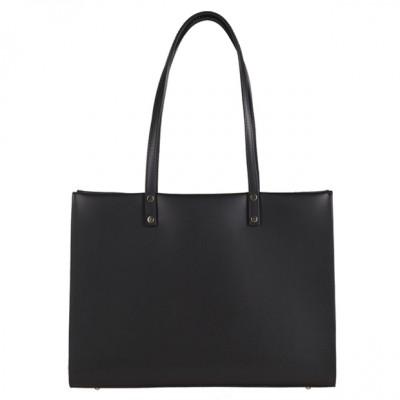 Włoska klasyczna torebka matowa skóra czarna (2920)
