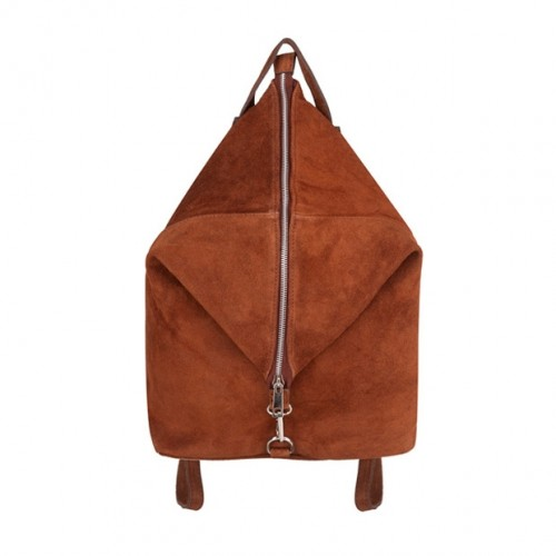 5b7a4f4841e64 Włoski plecak zamsz naturalny brązowy (4339)