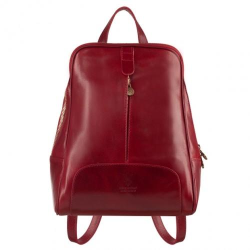 ab704758364ed Włoski skórzany plecak bordowy (4733)