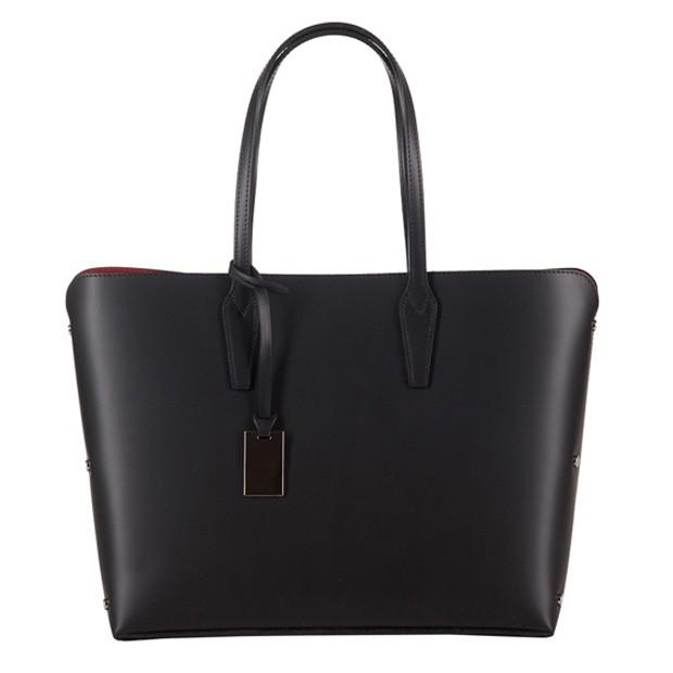 Włoska klasyczna torebka skórzana czarna (2729)