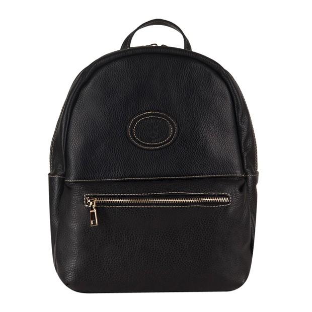 Vera Pelle - skórzany plecak czarny (2936)