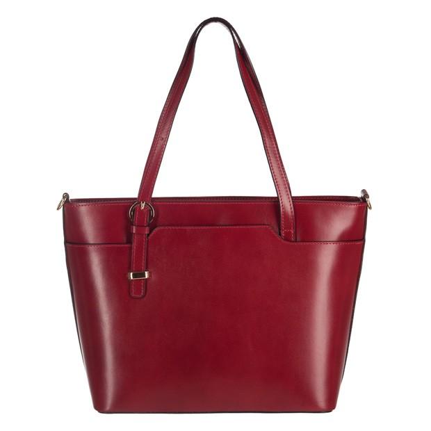 Włoska klasyczna torebka skórzana bordowa (2962)