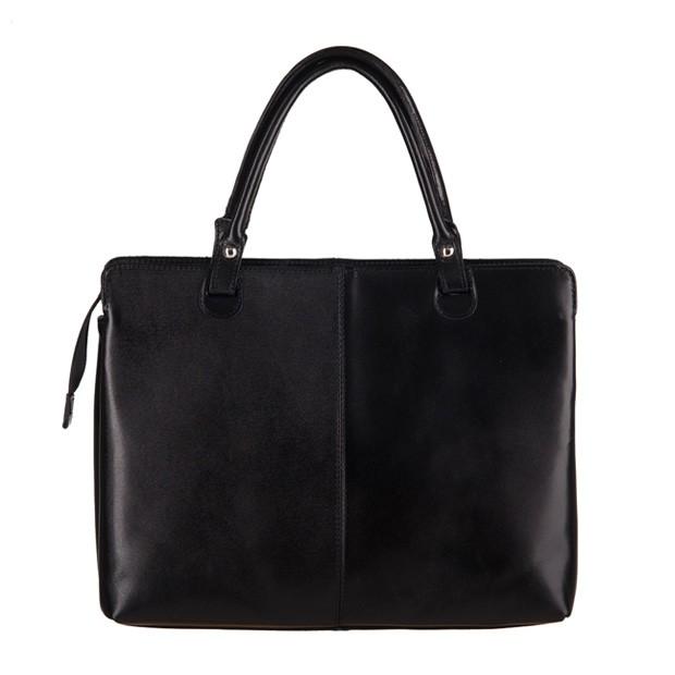 Włoska klasyczna torebka skórzana czarna (3152)