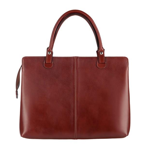 Włoska klasyczna torebka skórzana brązowa (3154)