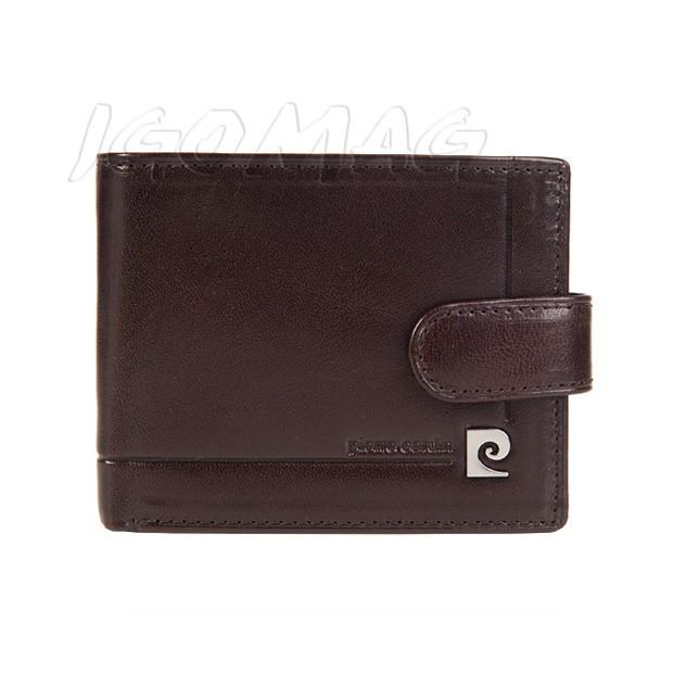 Pierre Cardin - Skórzany męski portfel brązowy (323-507B)