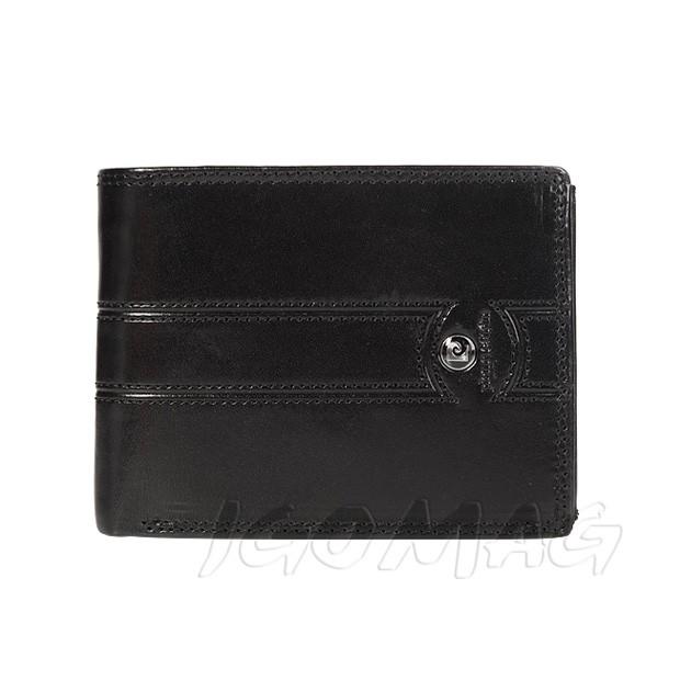 Pierre Cardin - Skórzany męski portfel czarny (325-505C)