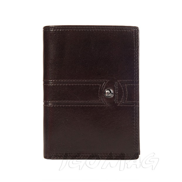 Pierre Cardin - Skórzany męski portfel brązowy (331-505B)