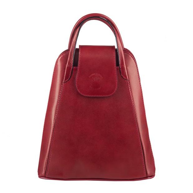 Włoski skórzany plecak bordowy (3348)