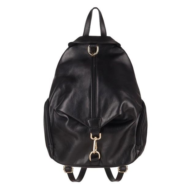 Włoski skórzany plecak czarny (3800)