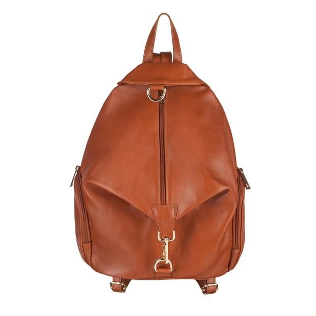 Włoski skórzany plecak camel (3804)