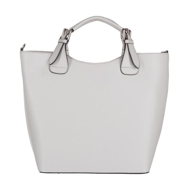 Włoska torebka shopper bag A4 matowa skóra janoszara (3845)