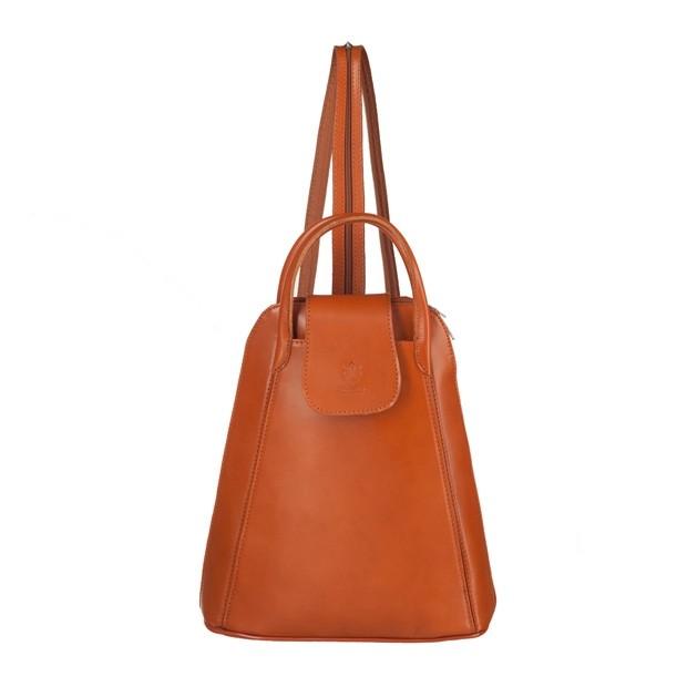Włoski skórzany plecak camel (3891)