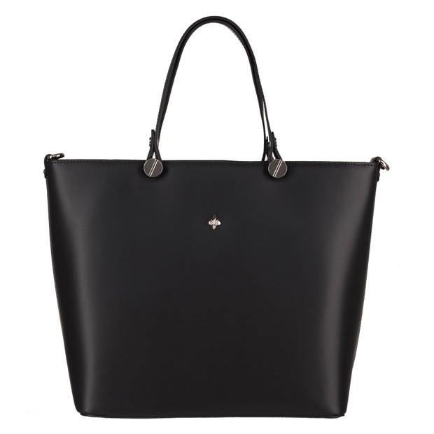 Włoska klasyczna torebka matowa skóra czarna (3917)