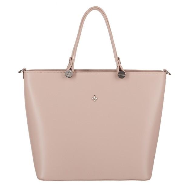 Włoska klasyczna torebka matowa skóra beżowa (4055)