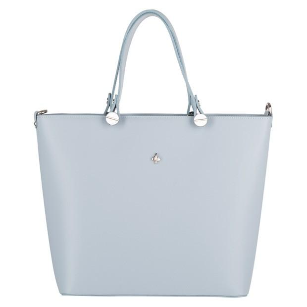 Włoska klasyczna torebka matowa skóra błękitna (4236)