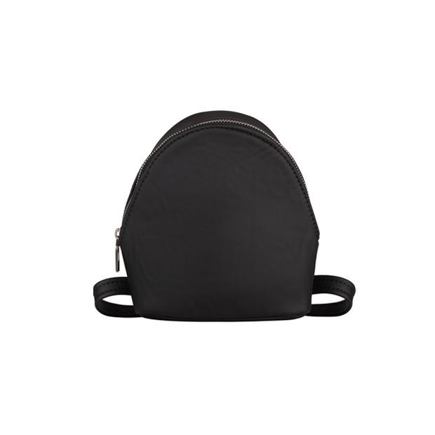 Skórzany mały plecak czarny (4492)