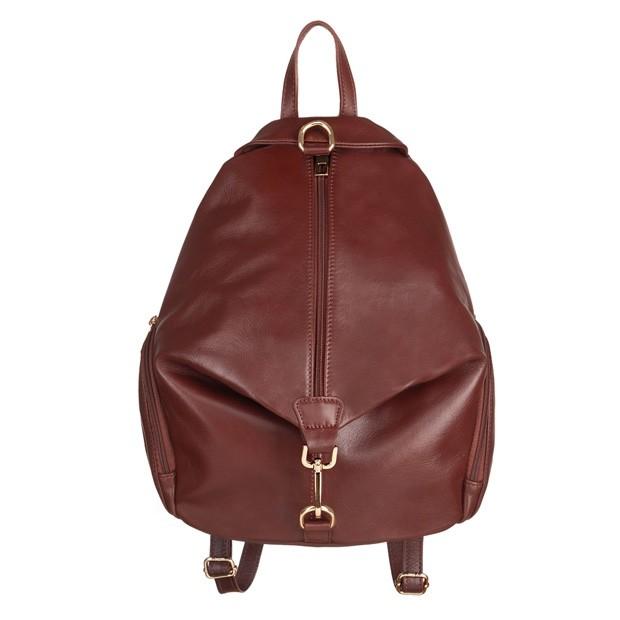 Włoski skórzany plecak brązowy (4919)