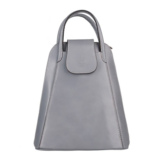 Włoski skórzany plecak szary (5085)