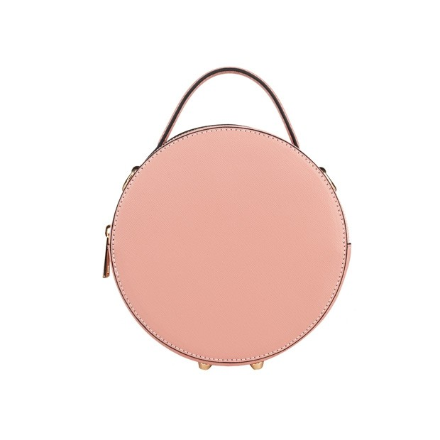 Włoska listonoszka skóra saffiano różowa (5157)