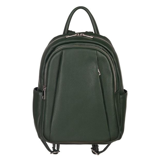 Włoski plecak z kieszeniami skóra dolaro zielony (5188)