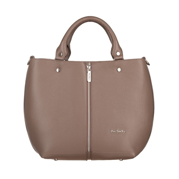 Pierre Cardin - skórzana torebka shopper bag beżowa (5420)