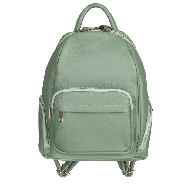 Włoski plecak z kieszeniami skóra dolaro miętowy (TS-4530-20)