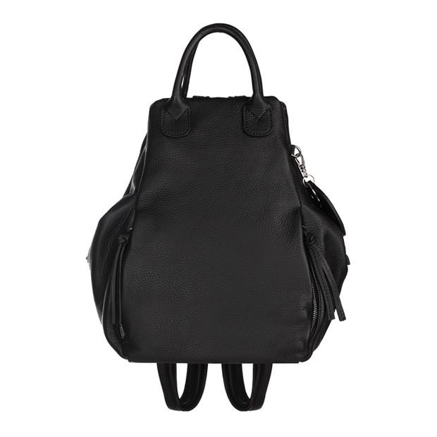 Włoski plecak skóra dolaro czarny (5715)