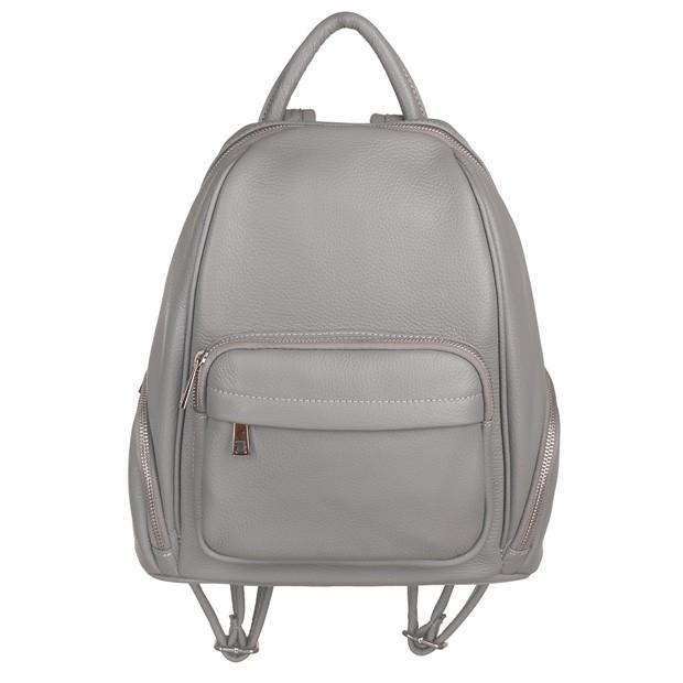 Włoski plecak z kieszeniami skóra dolaro szary (TS-4530-09)