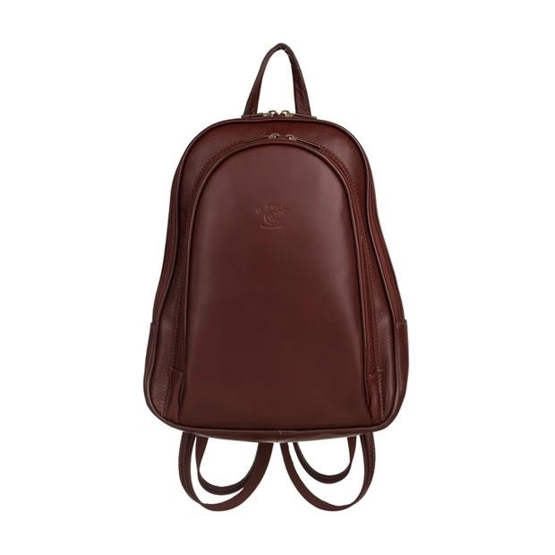 Włoski plecak skórzany brązowy (5744)