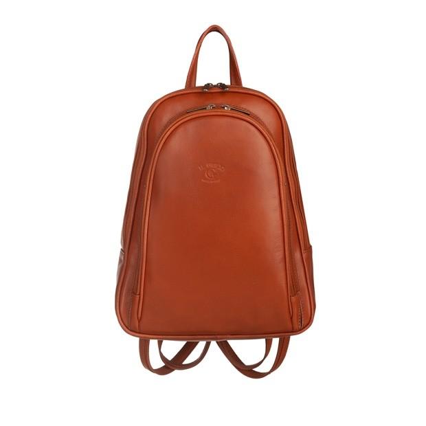 Włoski plecak skórzany camel (5746)