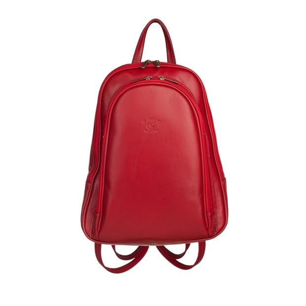 Włoski plecak skórzany bordowy (5747)