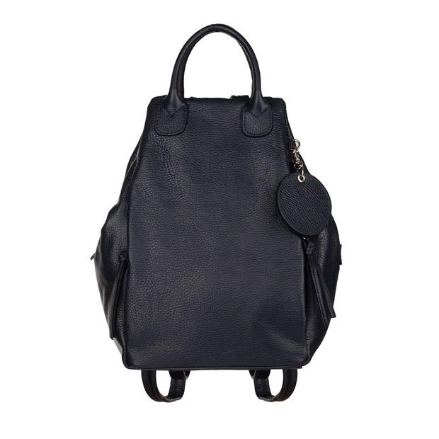 Włoski plecak skóra dolaro granatowy (TS-5715-04)