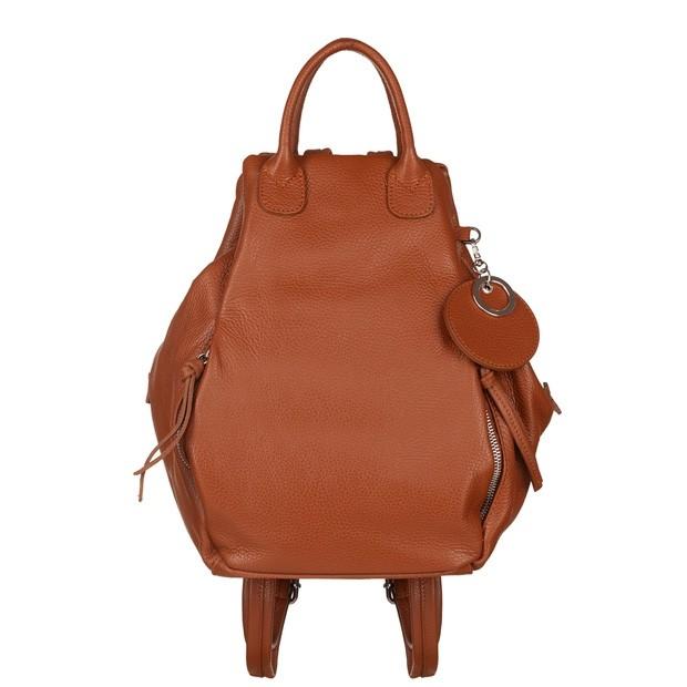 Włoski plecak skóra dolaro camel (5778)