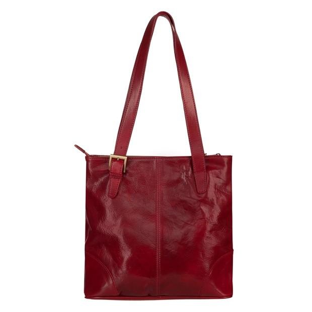 Włoska klasyczna torebka skórzana bordowa (TS-5799-07)